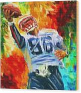 Football II Wood Print