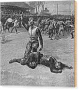 Football Injury, 1891 Wood Print