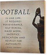 Football Wood Print