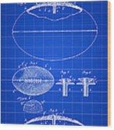 Football Patent 1902 - Blue Wood Print