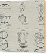 Football Patent Collection Wood Print