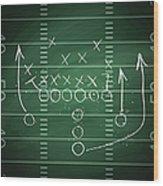 Football Play Wood Print