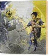 Football Player Wood Print