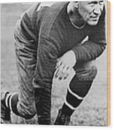 Football Player Jim Thorpe Wood Print