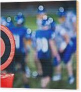 Football Sideline Marker Wood Print