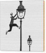 Football Stunt Wood Print