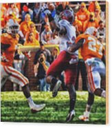 Football Time In Tennessee Wood Print