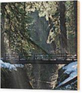 Footbridge Near Sol Duc Falls, Olympic Wood Print