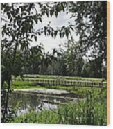 Footbridge To The Steamboat Landing Wood Print