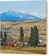 Foothills' Farming Country Wood Print