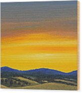 Foothills Sunrise Wood Print