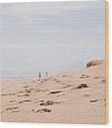 Footprints 2 Wood Print