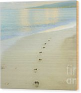 Footprints To Nowhere Wood Print