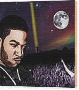 For Even In Hell - Kid Cudi Wood Print
