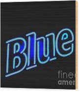 For You Madame Blue Wood Print