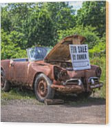 For Sale By Owner Wood Print by Rick Kuperberg Sr
