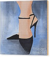 For The Love Of Shoes Wood Print