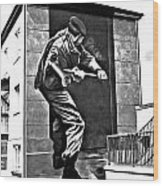 Forced Entry Derry Mural Wood Print