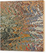 Forces Of Nature - Abstract Art Wood Print