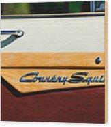 Ford Country Sedan Emblem Wood Print