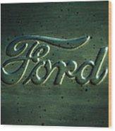 Ford Emblem -0113c Wood Print