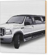 Ford Excursion Stretched Limousine Wood Print