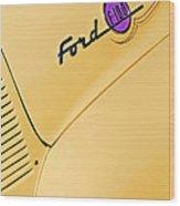 Ford F-100 Emblem Pickup Truck Wood Print
