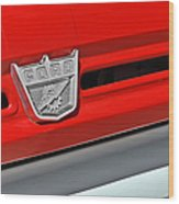 Ford F-500 - Route 66 - Winslow Arizona Wood Print by Christine Till