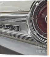 Ford Fairlane 500 Emblem Wood Print