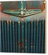 Ford Grille Wood Print