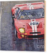 Ford Gt 40 24 Le Mans  Wood Print