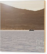 Ford Hot Rod On The Salt At Full Throttle Wood Print