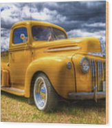 Ford Jailbar Pickup Hdr Wood Print by Phil 'motography' Clark