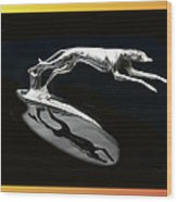 Ford Lincoln Greyhound Mascot Wood Print