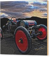 Ford Model T Racer Beat The Storm Home Wood Print