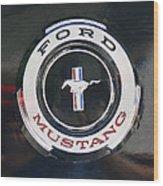 Ford Mustang Emblem Wood Print