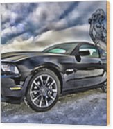 Ford Mustang - Featured In Vehicle Eenthusiast Group Wood Print