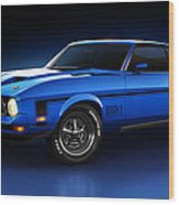 Ford Mustang Mach 1 - Slipstream Wood Print by Marc Orphanos