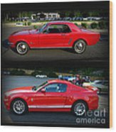 Ford Mustang Old Or New Wood Print