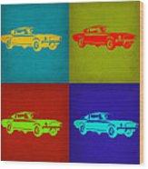 Ford Mustang Pop Art 1 Wood Print