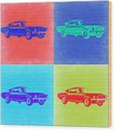Ford Mustang Pop Art 2 Wood Print