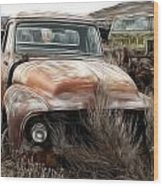 Ford Old Pickup Wood Print