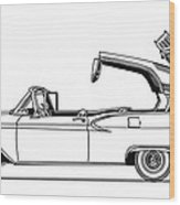 Retractable Ford Top Going Down Wood Print