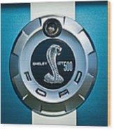 Ford Shelby Gt 500 Cobra Emblem Wood Print