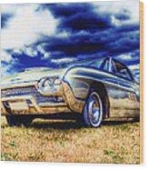 Ford Thunderbird Hdr Wood Print