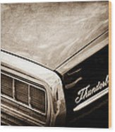 Ford Thunderbird Taillight Emblem Wood Print