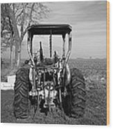Ford Tractor Rear View Wood Print