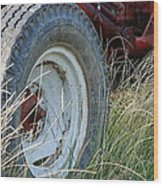 Ford Tractor Tire Wood Print by Jennifer Ancker