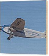 Ford Tri-motor In Flight Wood Print