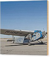 Ford Tri-motor Taxiing Wood Print